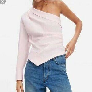 Zara asymmetric one shoulder top